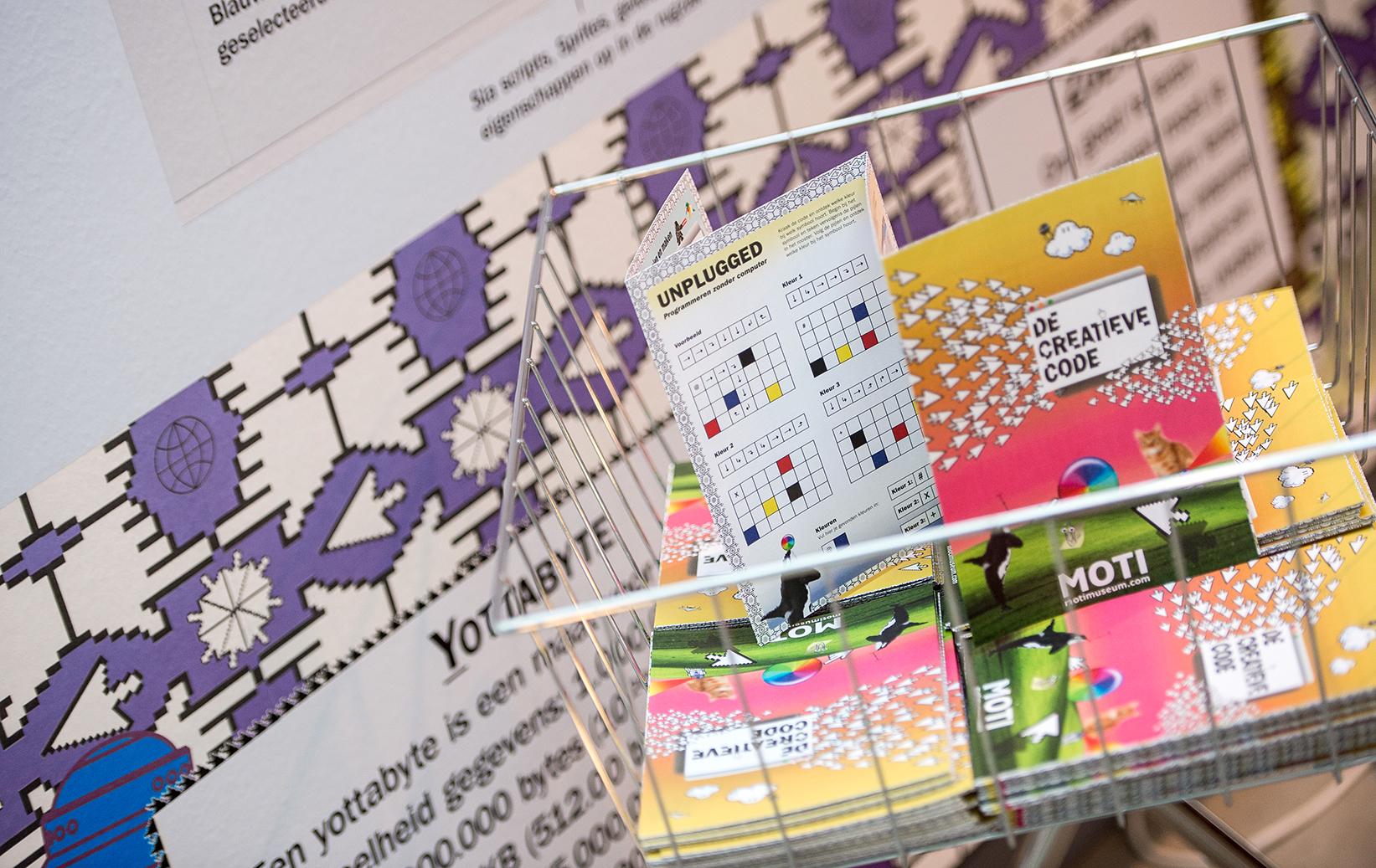 De creatieve code, moti, graphic design, museum