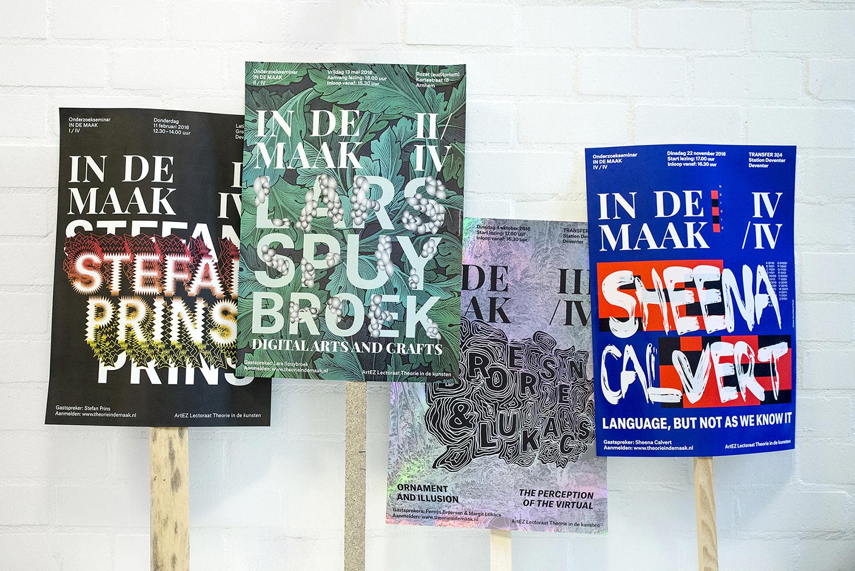 In de Maak, ArtEZ Education in Arts and Culture professorship, dana dijkgraaf, DDD, graphic design, poster, typography