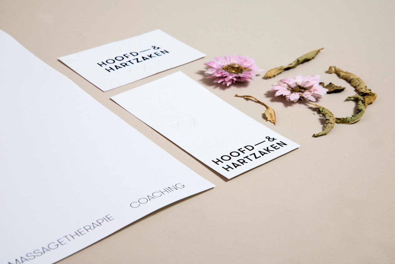 Hoofd Hartzaken huisstijl grafisch ontwerp graphic design identity logo
